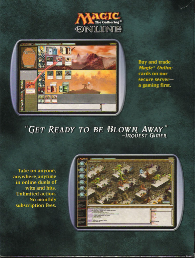 Magic: The Gathering Online Windows Inside Cover Right Flap