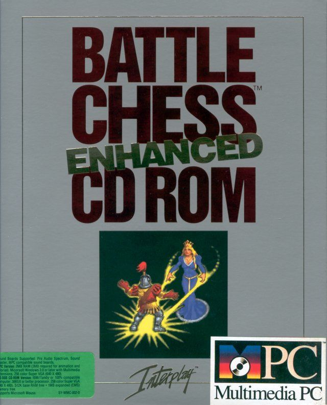 Battle Chess: Enhanced CD ROM DOS Front Cover