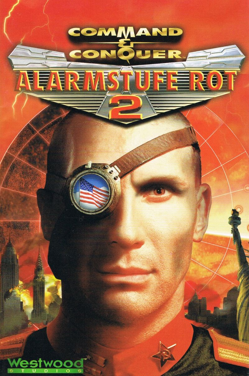 command conquer red alert 2 2000 windows box cover art mobygames rh mobygames com Red Alert 2 Characters Red Alert 2 Online