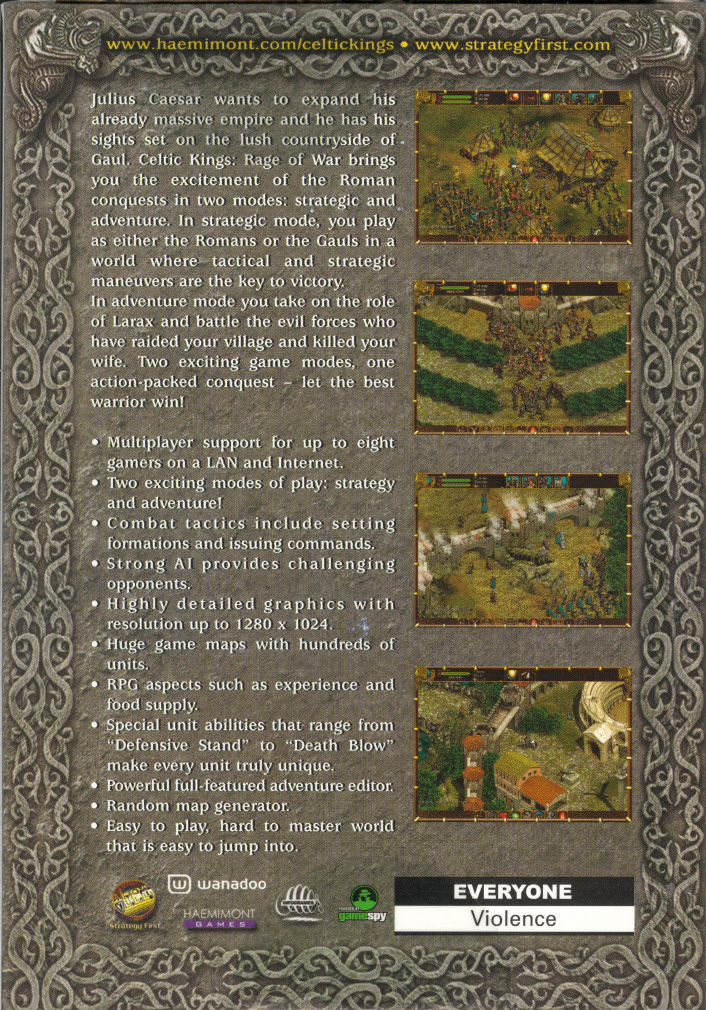 Celtic Kings: Rage of War Windows Back Cover