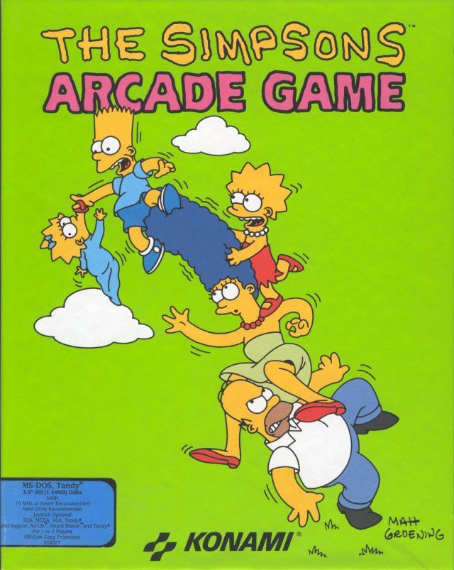 The Simpsons For Arcade 1991 Mobygames