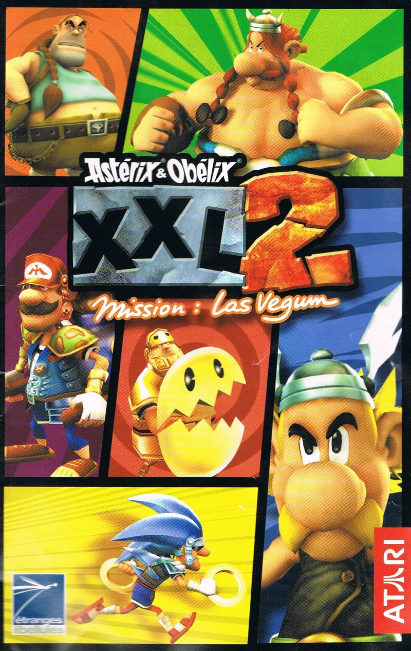 Astérix & Obélix XXL 2: Mission: Las Vegum PlayStation 2 Manual Front