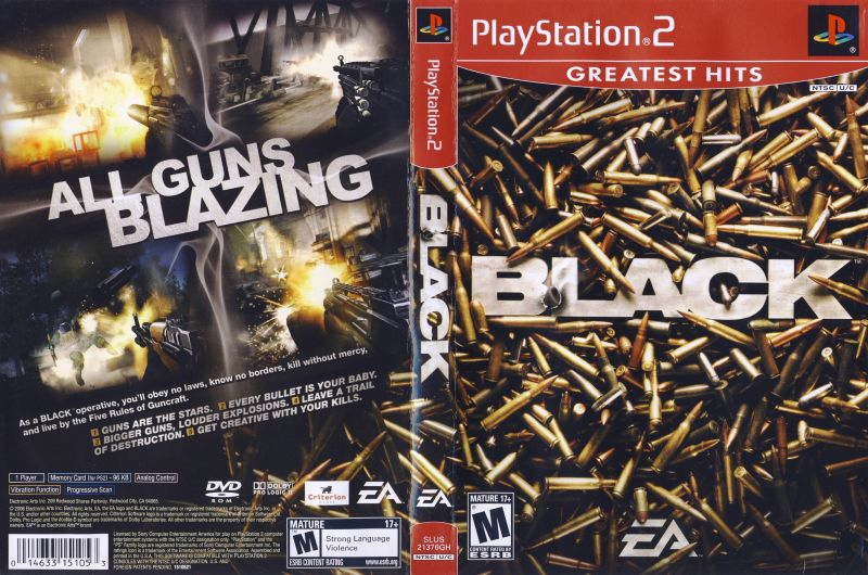 Black (2006) PlayStation 2 box cover art - MobyGames