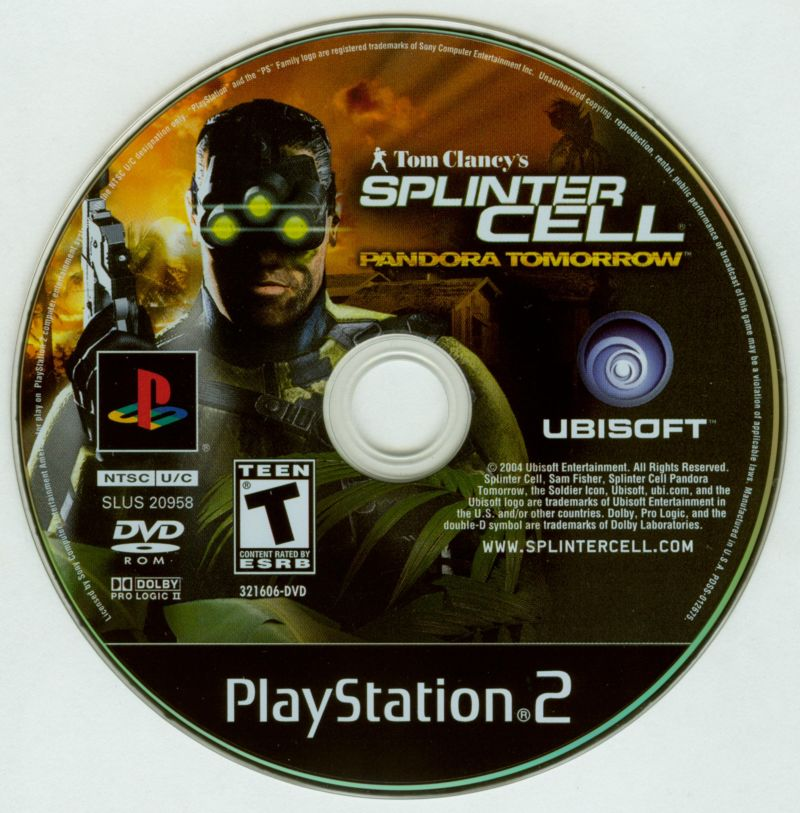 Tom Clancy's Splinter Cell: Pandora Tomorrow PlayStation 2 Media