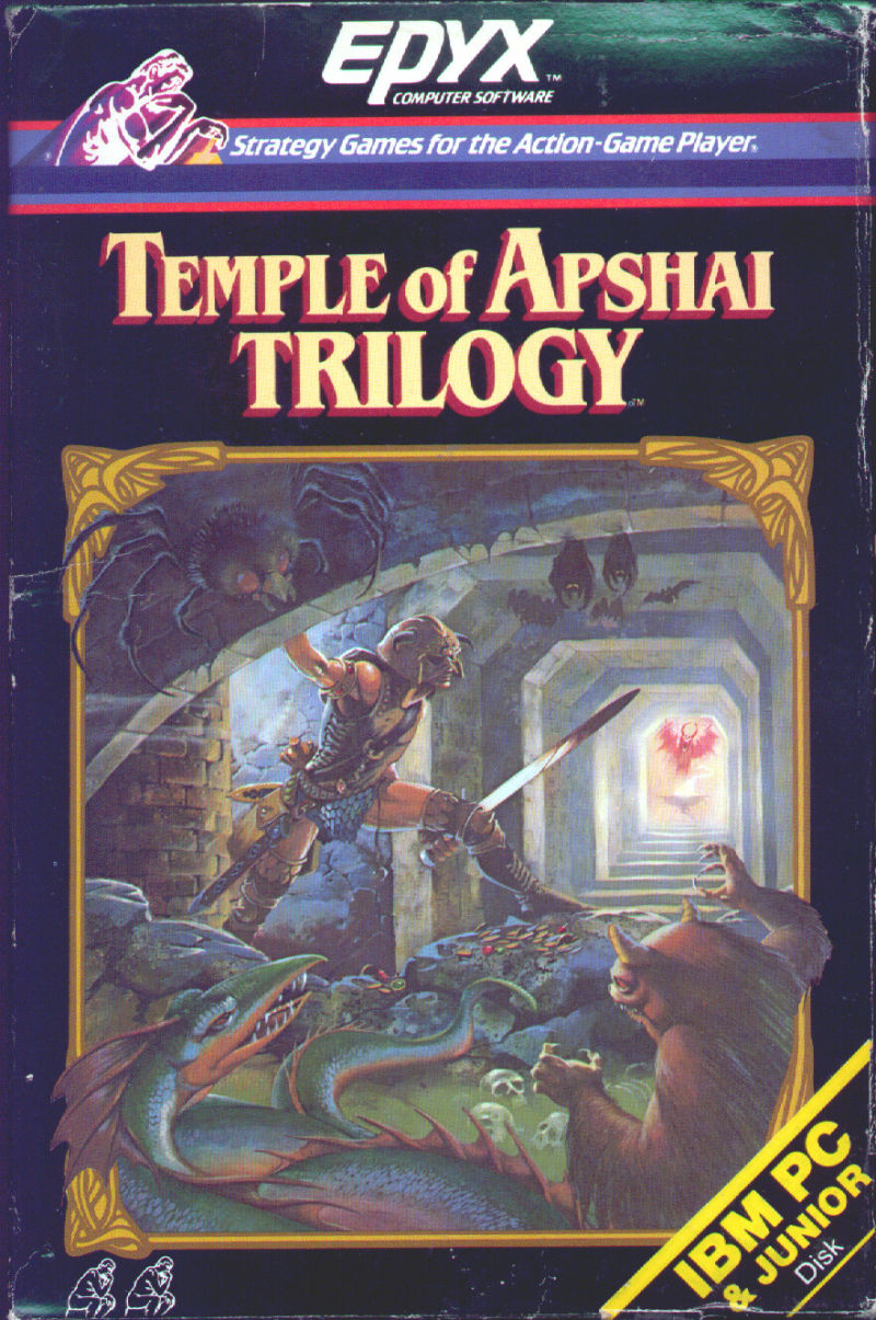 Temple of Apshai Trilogy DOS Front Cover