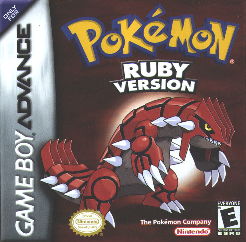 Pokémon Ruby Version Game Boy Advance Front Cover