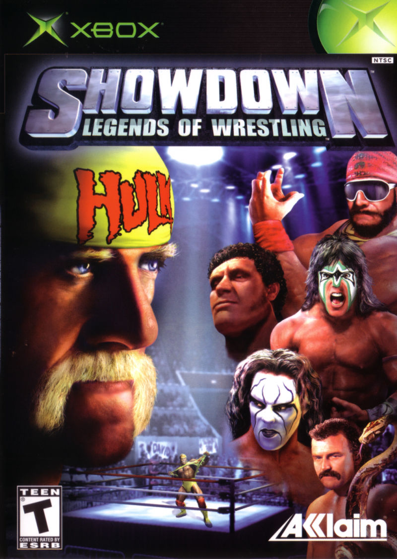 Book Cover Pictures Xbox : Showdown legends of wrestling xbox box cover art