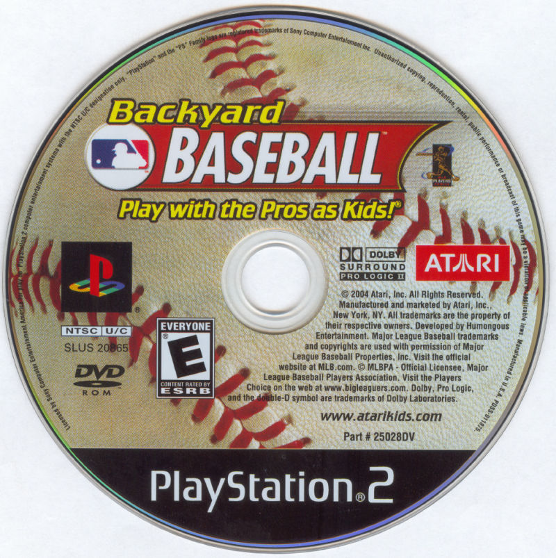 Backyard Baseball PlayStation 2 Media - Backyard Baseball (2004) PlayStation 2 Box Cover Art - MobyGames