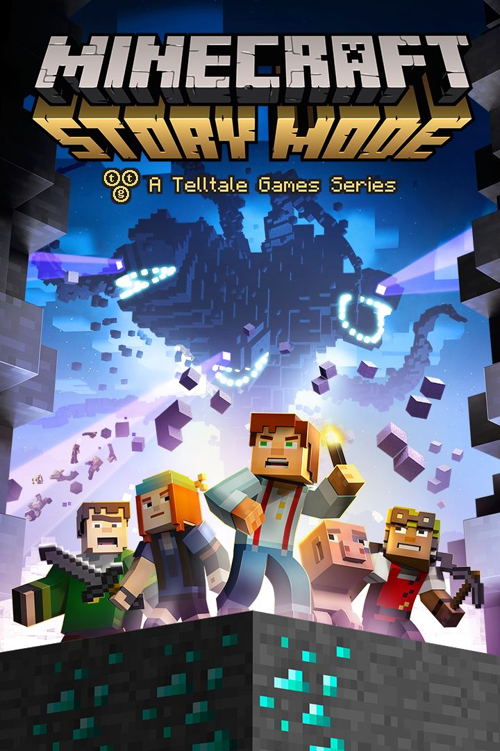 Book Cover Craft Xbox ~ Minecraft story mode xbox one box cover art