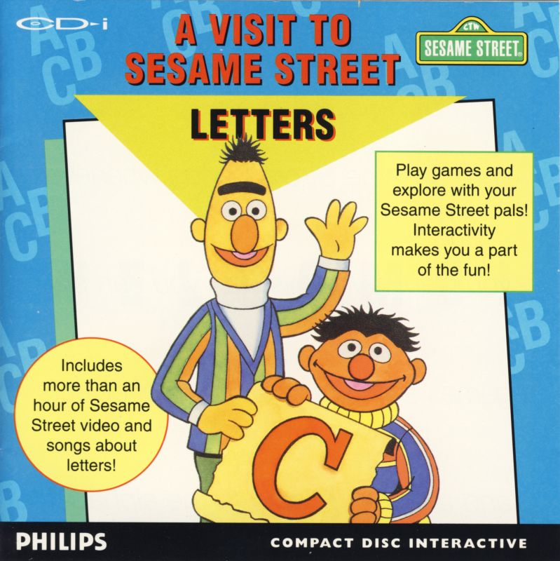 A Visit to Sesame Street Letters 1992 CD i box cover art