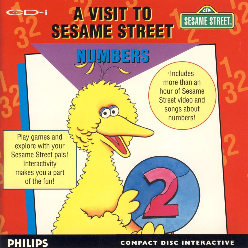 Sesame Street: Numbers CD-i Front Cover