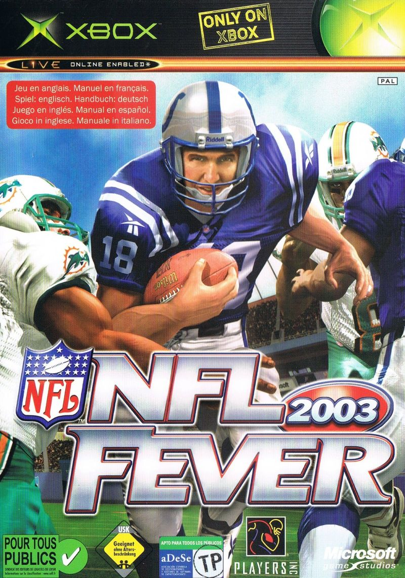 NFL Fever 2003 Xbox Front Cover