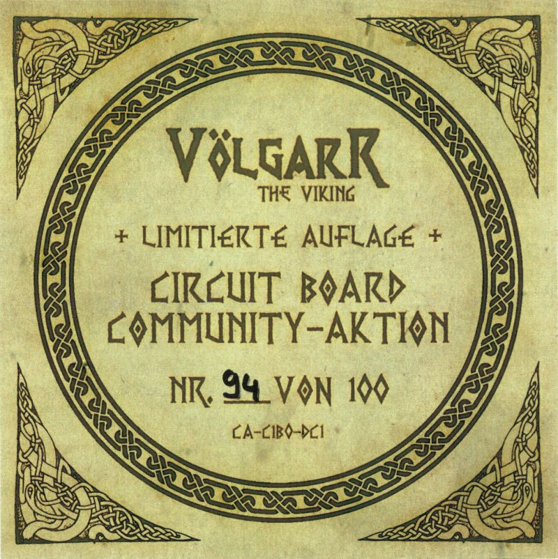 Völgarr the Viking Dreamcast Extras Limited Edition sheet - Front