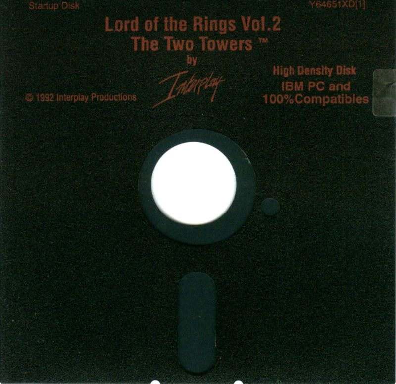 J.R.R. Tolkien's The Lord of the Rings, Vol. II: The Two Towers DOS Media Disk 1/3