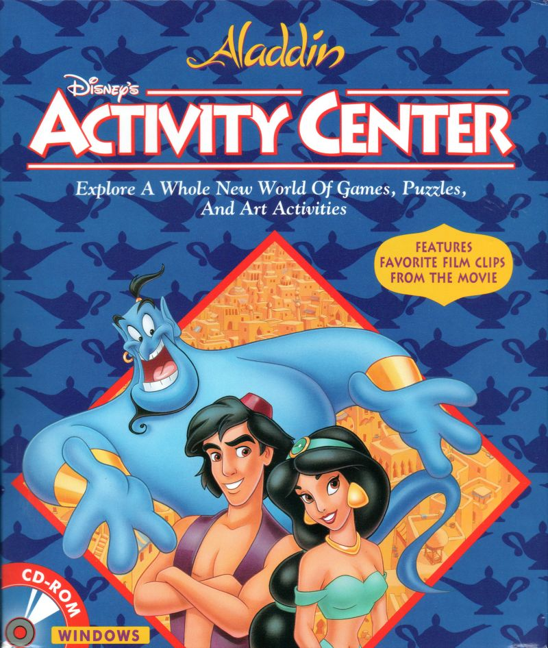 Disney's Activity Center: Aladdin Windows 3.x Front Cover
