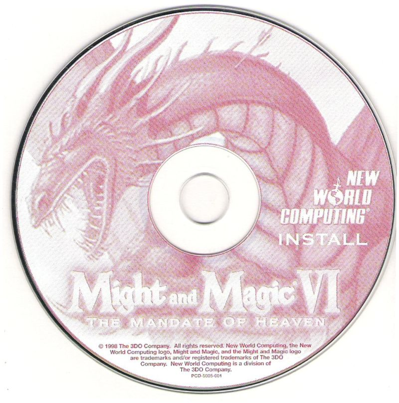 Might and Magic VI: The Mandate of Heaven Windows Media Install Disc