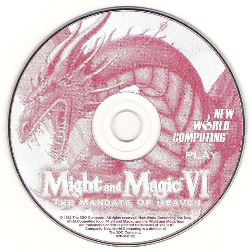 Might and Magic VI: The Mandate of Heaven Windows Media Play Disc