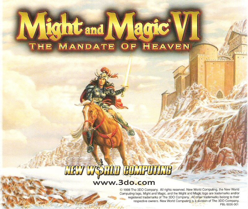 Might and Magic VI: The Mandate of Heaven Windows Other Jewel Case - Back