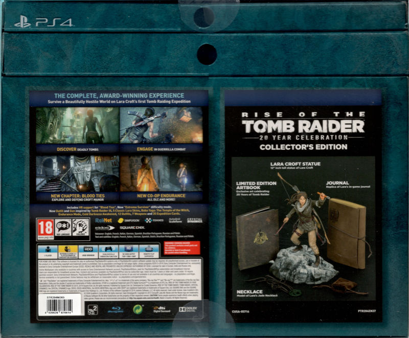 Rise Of The Tomb Raider 20 Year Celebration Collector S Edition