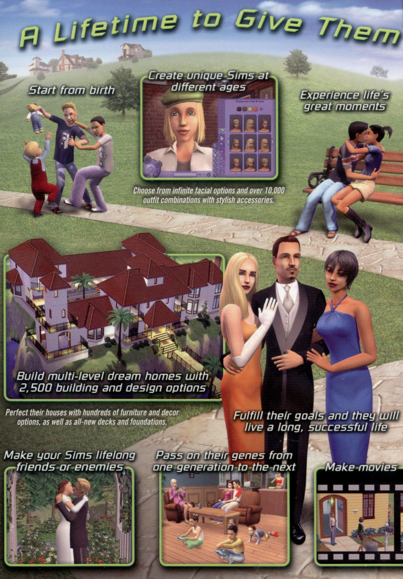 The Sims 2 Windows Inside Cover Left Flap