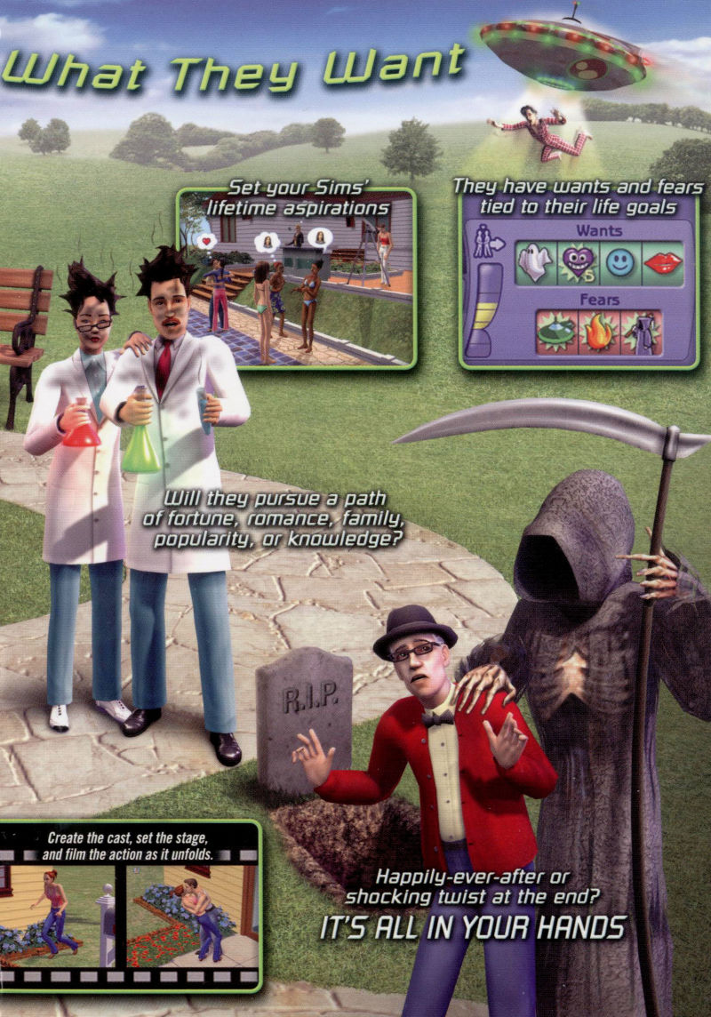 The Sims 2 Windows Inside Cover Right Flap