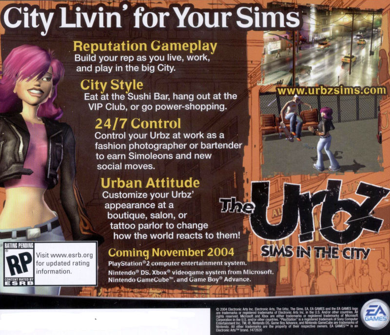 The Sims 2 Windows Other Jewel Case - Back