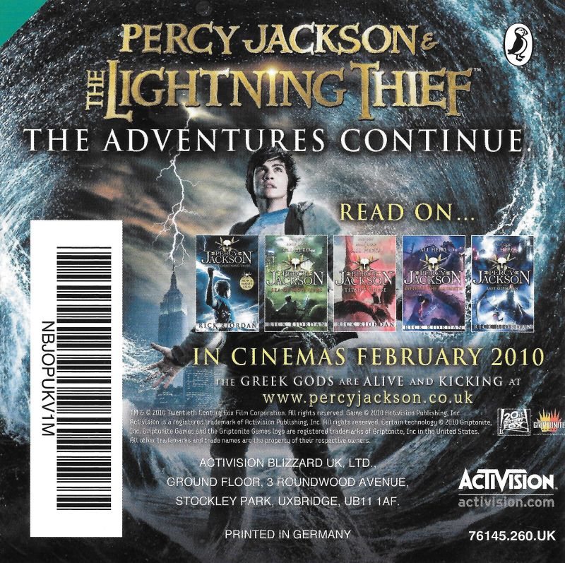 Percy Jackson And The Olympians The Lightning Thief 2010 Nintendo Ds Box Cover Art Mobygames
