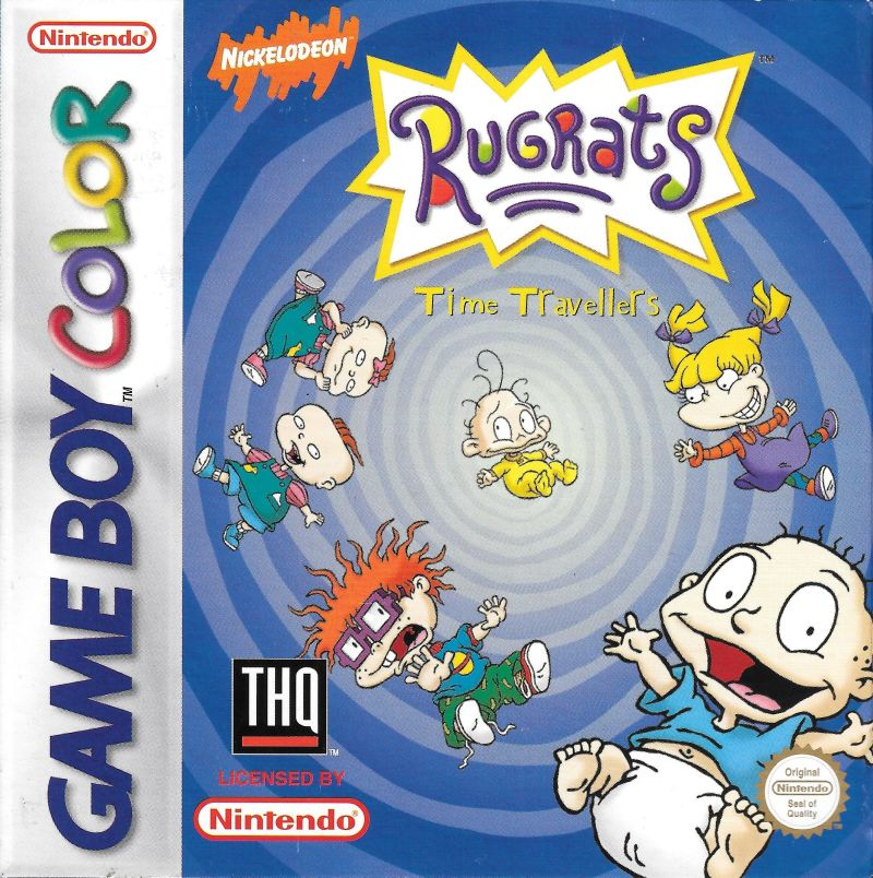 Rugrats: Time Travelers Game Boy Color Front Cover
