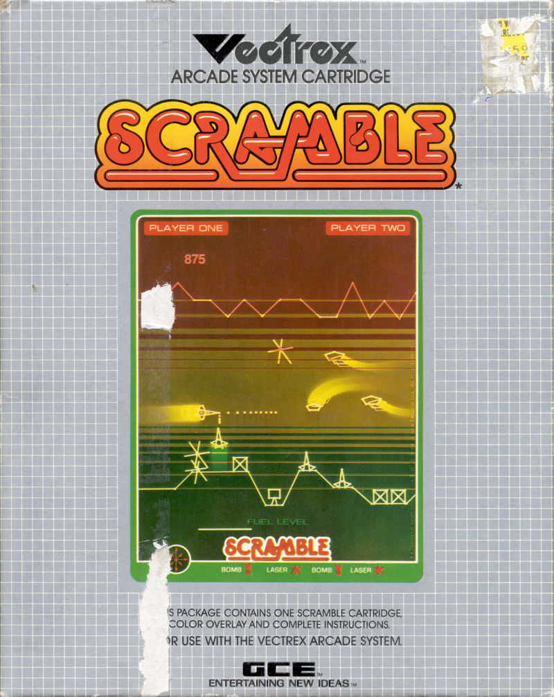 Scramble Vectrex Front Cover