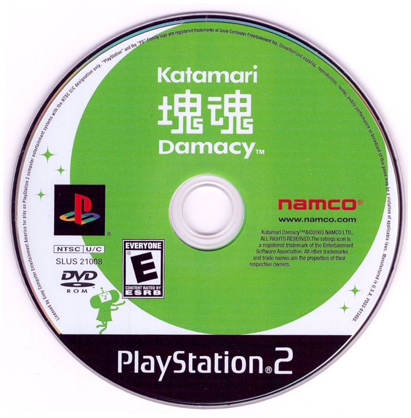 Katamari Damacy PlayStation 2 Media