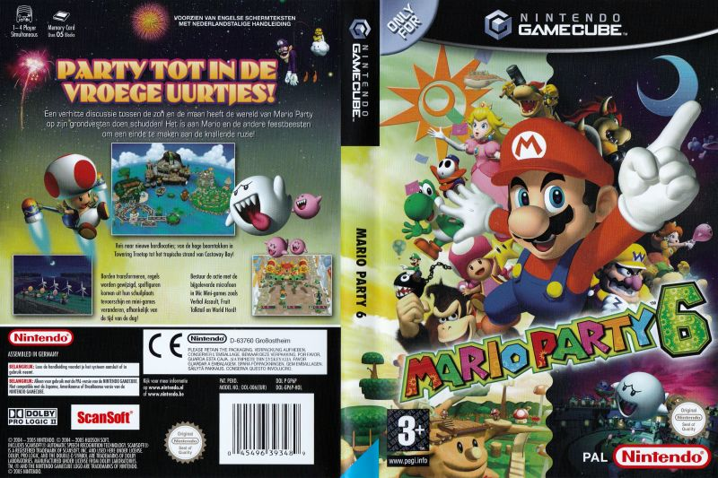 Mario Party 6 GameCube Other Keep Case - Full Cover