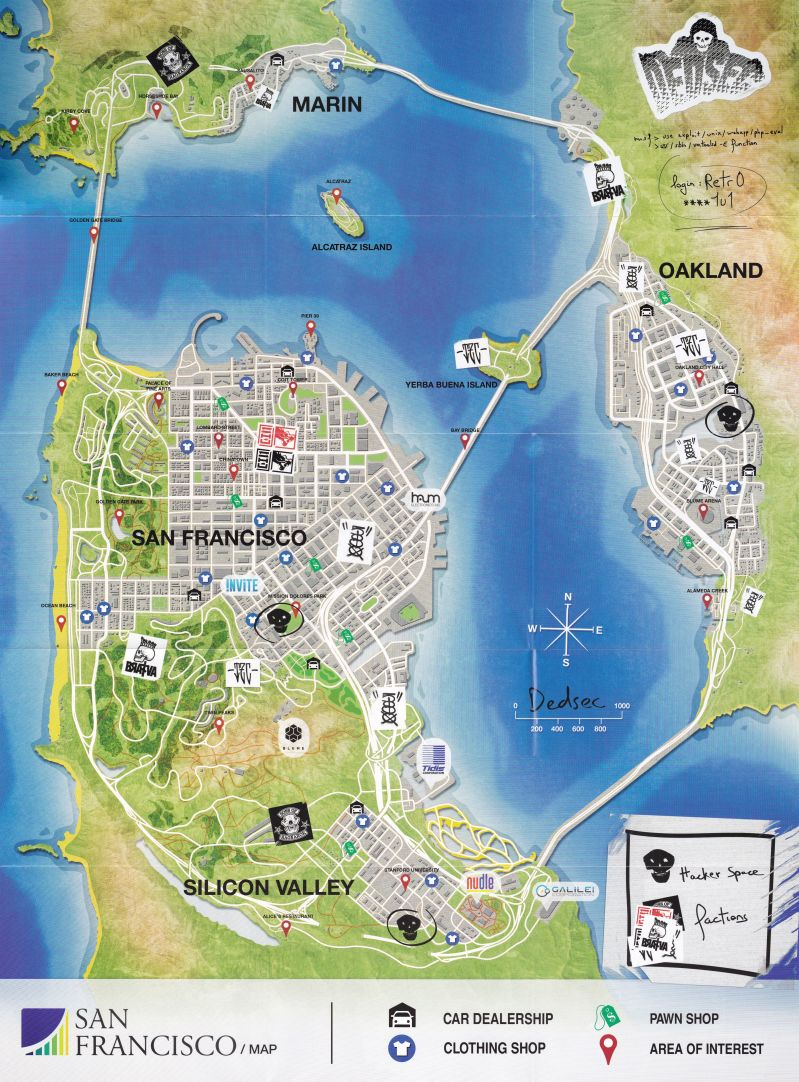 Watch Dogs  Map San Francisco