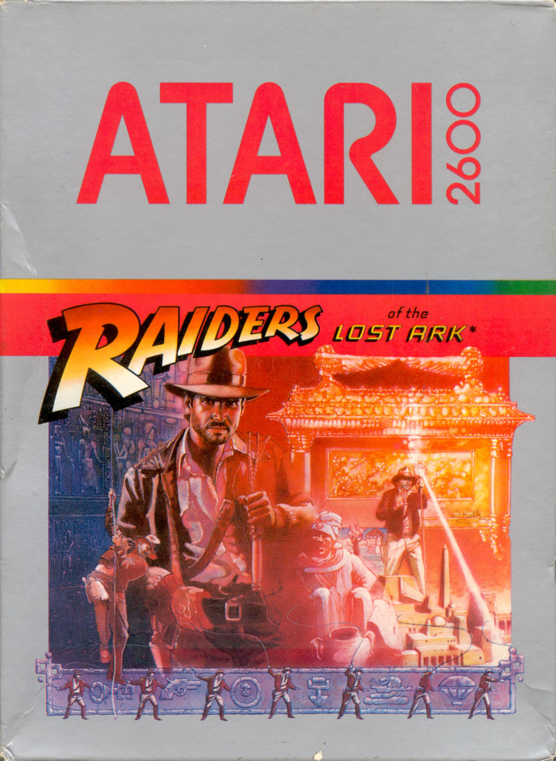Raiders of the Lost Ark Atari 2600 Front Cover