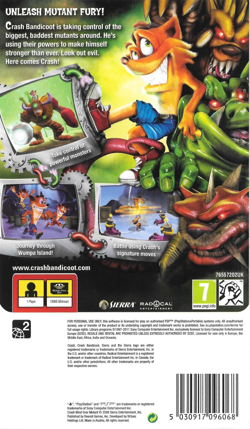 crash bandicoot mind over mutant psp iso