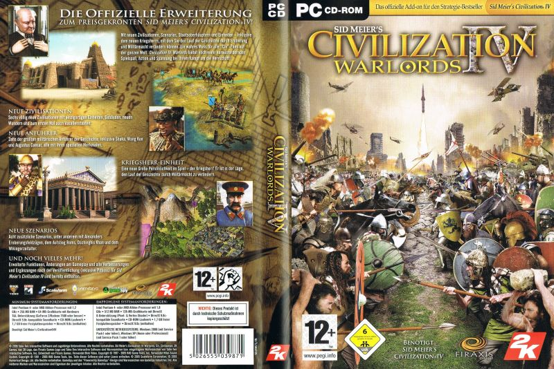 sid meier s civilization iv warlords 2006 windows box cover art rh mobygames com Civ IV Warlords Cheats Civ 4 Expansion Order