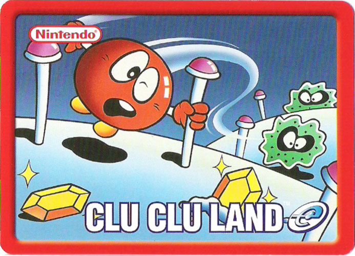 Clu Clu Land Game Boy Advance Media e-Card back, same for cards 1-5