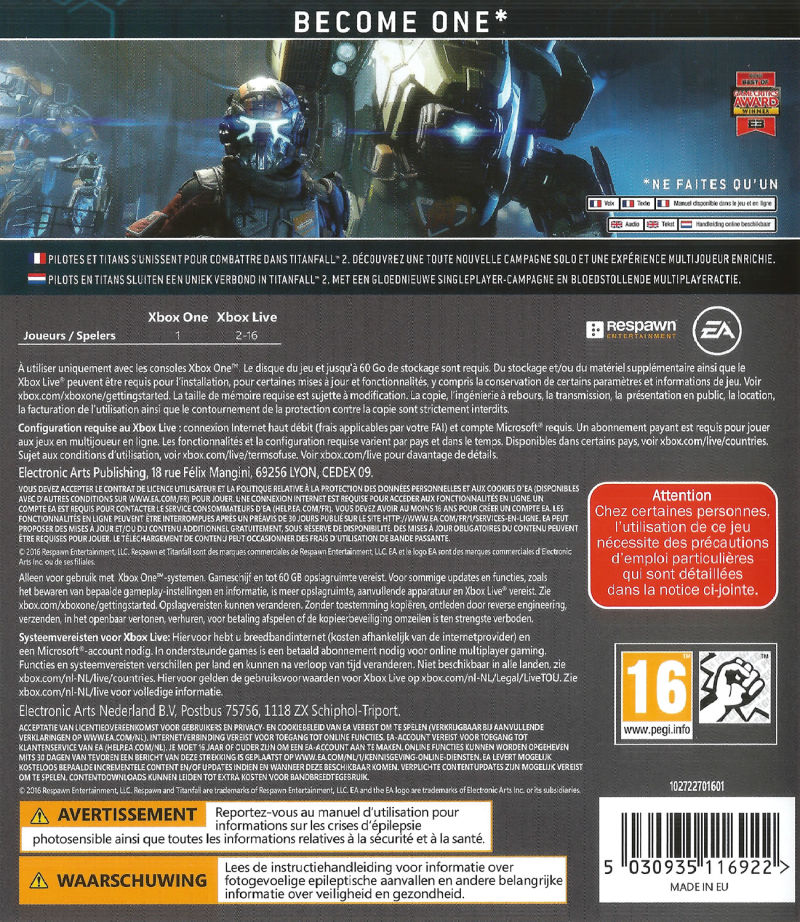 Xbox One Game Cover Back The gallery for -->...