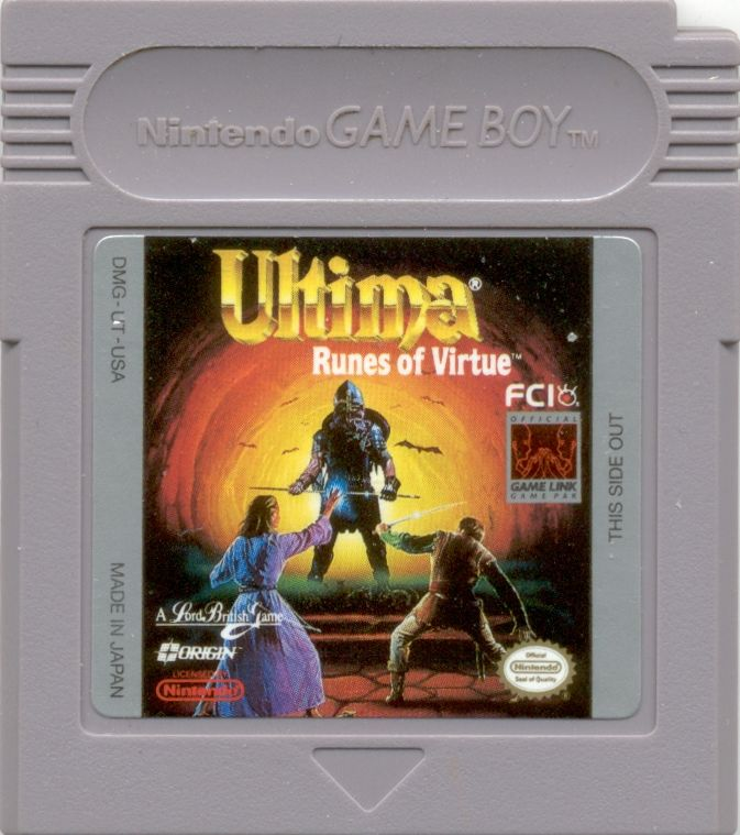 Ultima: Runes of Virtue Game Boy Media