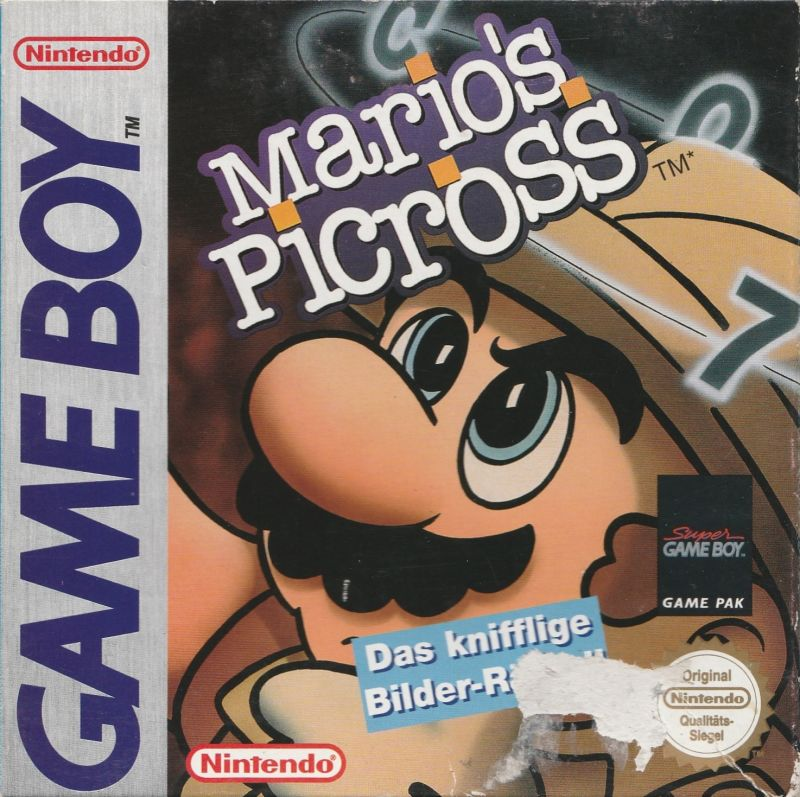 Mario's Picross Game Boy Front Cover
