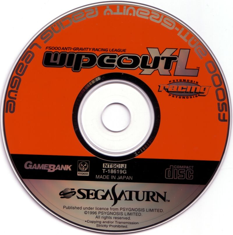 WipEout XL SEGA Saturn Media
