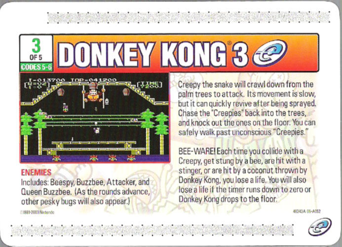 Donkey Kong 3 Game Boy Advance Media e-Card 3