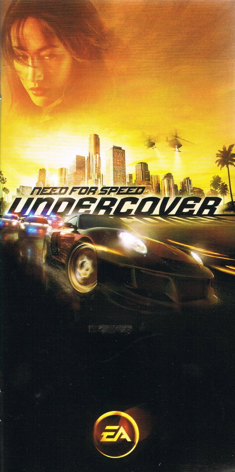 Need for Speed: Undercover PSP Manual Front