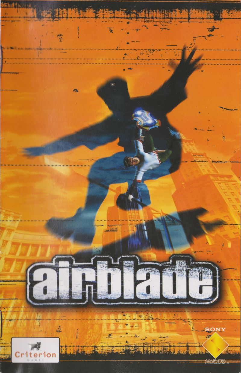 AirBlade PlayStation 2 Manual Front