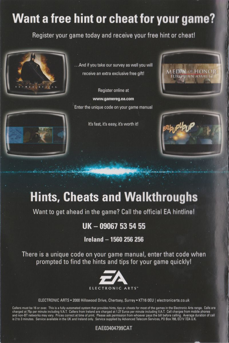 Battlefield 2: Modern Combat PlayStation 2 Advertisement EA: The Gaming Guide - Back