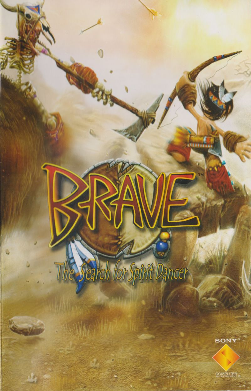 Brave: The Search for Spirit Dancer PlayStation 2 Manual Front