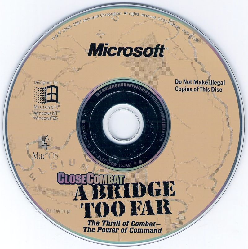 Close Combat: A Bridge Too Far Macintosh Media