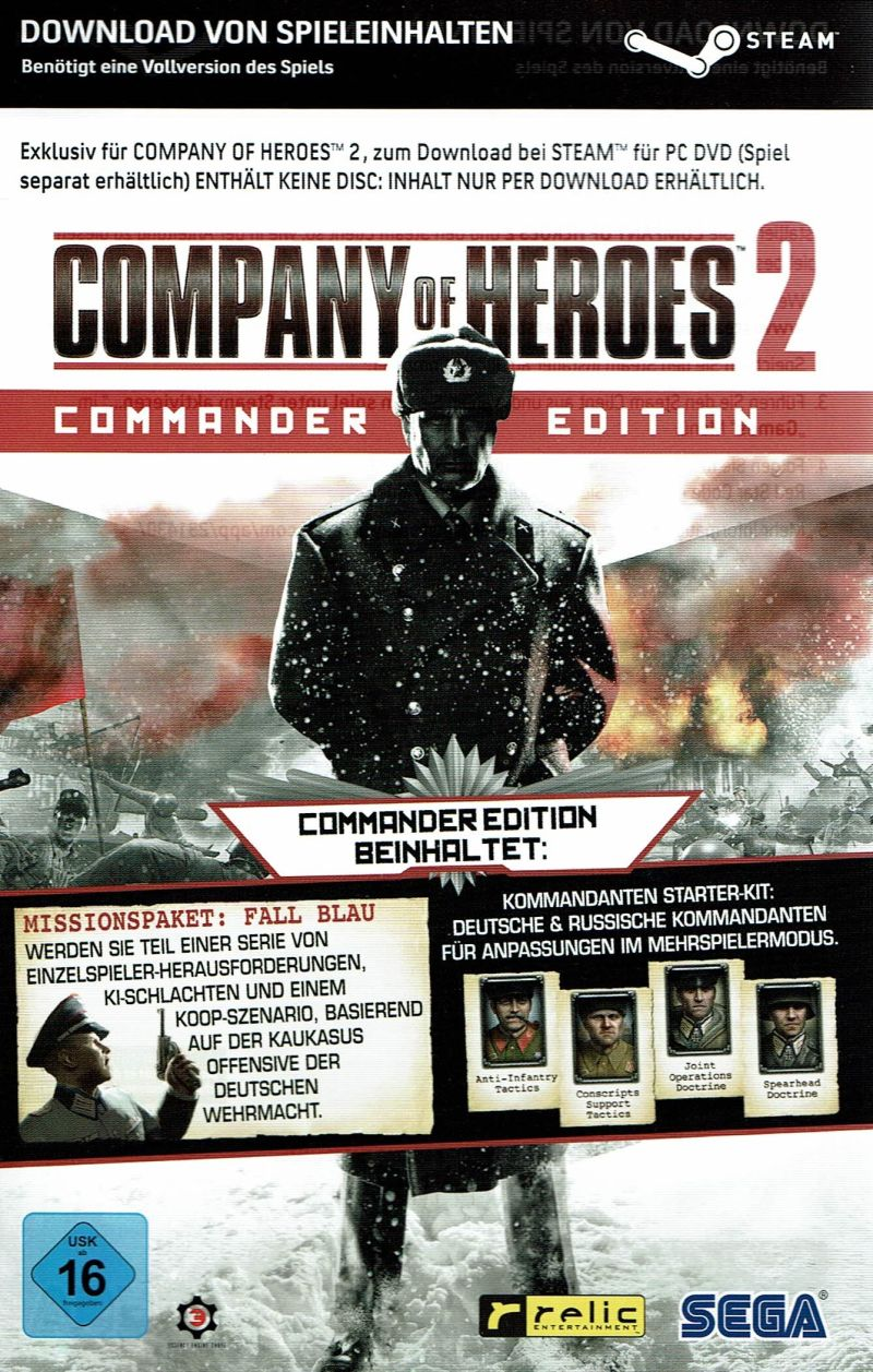 Company Of Heroes 2 Commander Edition 2014 Windows Box Cover Art Mobygames