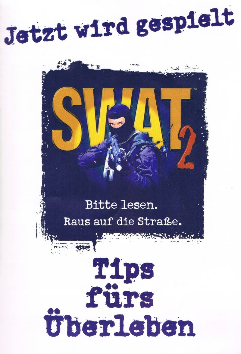 Police Quest: SWAT 2 Windows Manual Front