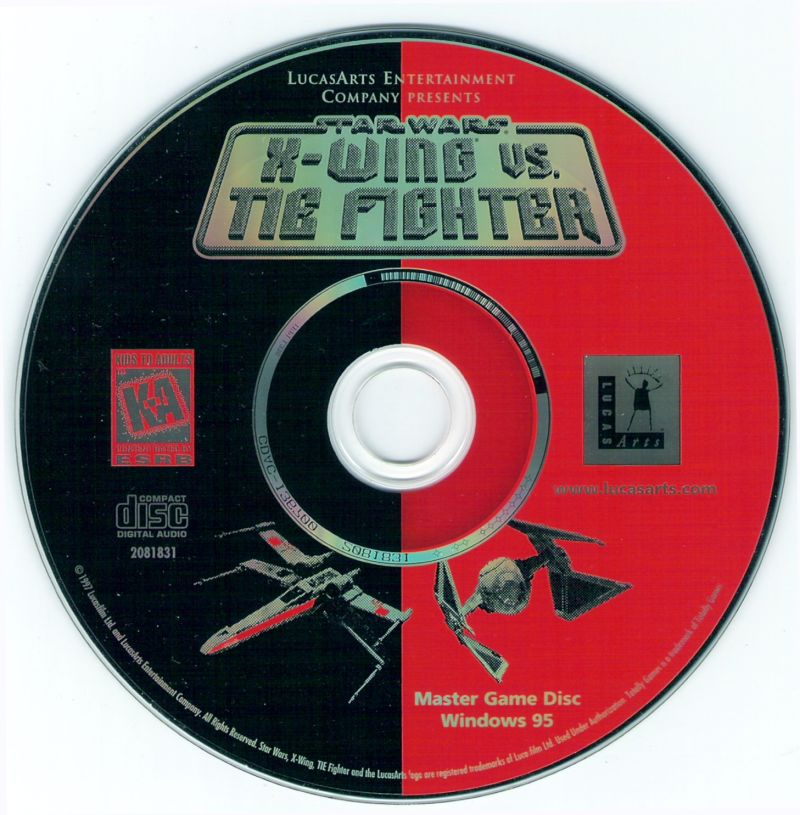 Star Wars: X-Wing Vs. TIE Fighter Windows Media Disc 1/2 (Master Disc)