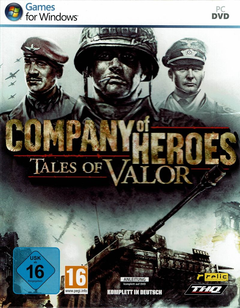 Company Of Heroes Tales Of Valor 2009 Windows Box Cover Art Mobygames